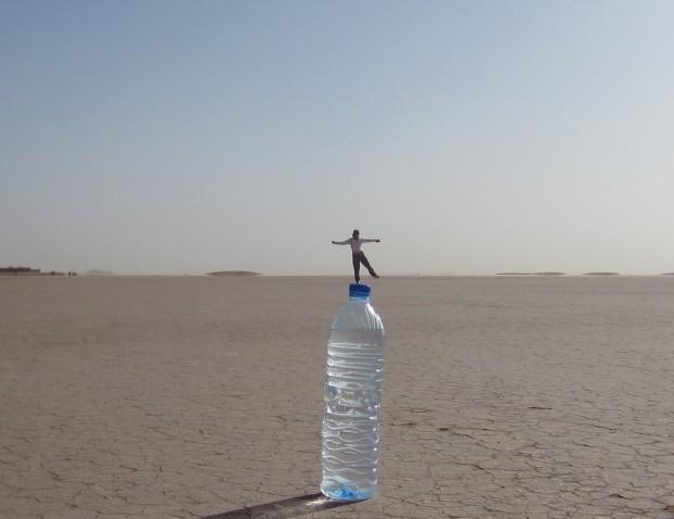 Lake Iriqui salt flats and desert illusions