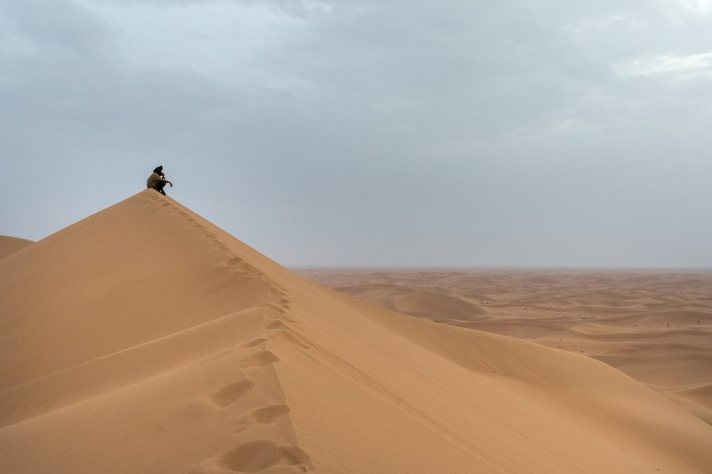 Solitude at the remote Erg Chigaga great dunes - Wild Morocco