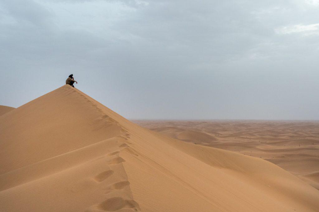 Solitude at the remote Erg Chigaga great dunes - Wild Morocco