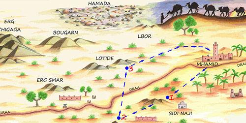 Wild Morocco map of desert treks