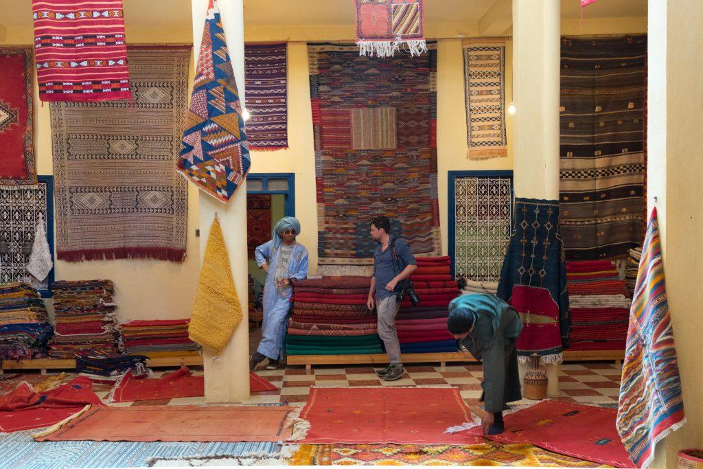 Carpet souk in Morocco - Wild Morocco tours