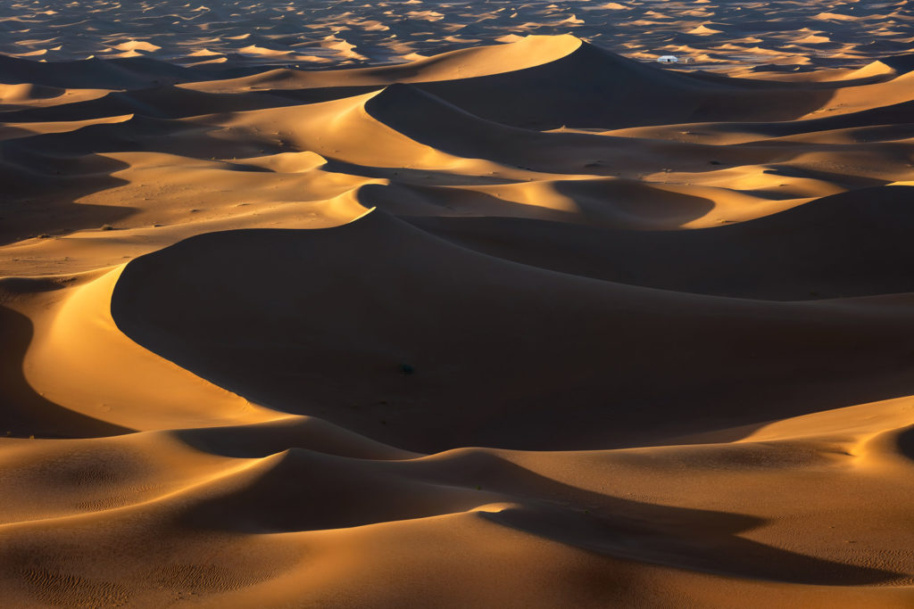 Erg Chigaga dunes at sunset - credit Michael Breitung
