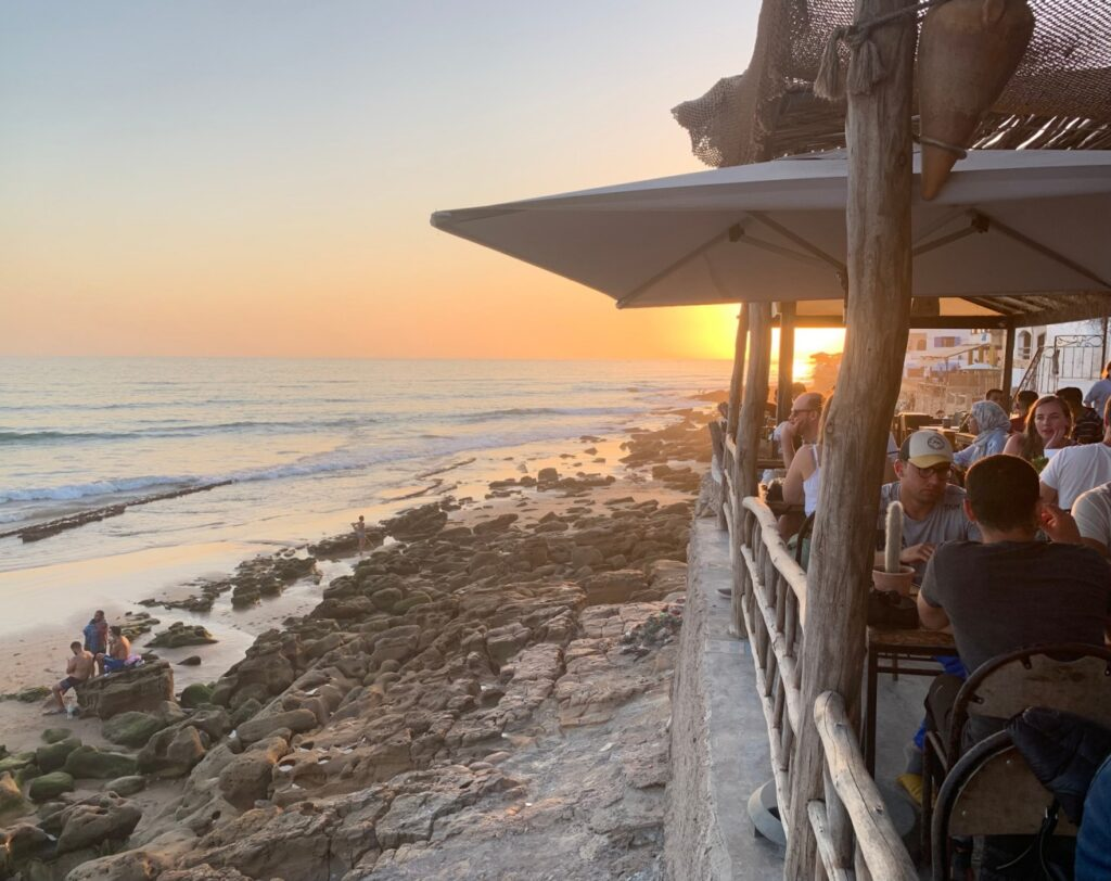 Sunset at Taghazout Bay Morocco - guest blog by Sally Kirby